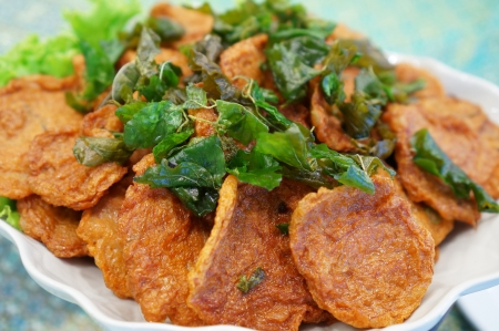 delicious plate of Deep-fried curried fish patties