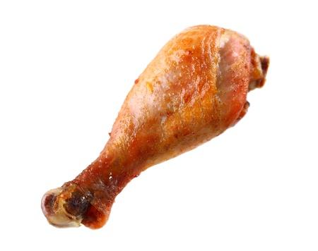Chichibio cuoco e la gru. Novella tratta dal Decameron. 18690708-singola-coscia-di-pollo-arrosto-isolato-su-bianco