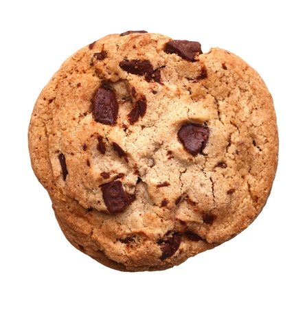 chocolate chip cookies: Chocolate Chip Cookie isolated on white background