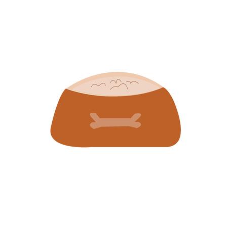 edward: Dog Bowl With Food. Vector Illustration.