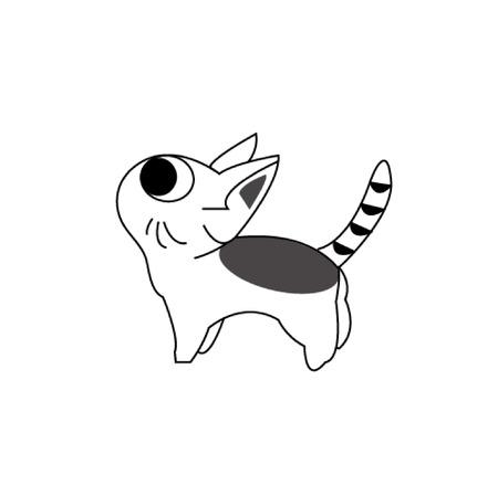 Vektor-Katzenillustration. Illustration