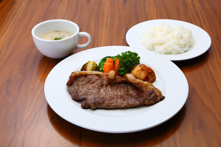 set: Beef steak set Stock Photo