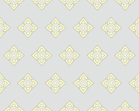 ah: Line thai art pattern vector illustration Illustration