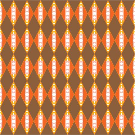 current affairs: Seamless pattern of circle in diamond-shaped quadrangle