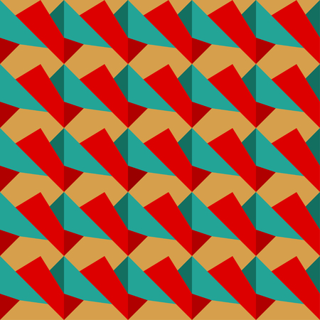 texture retro: Seamless de r�tro texture rouge et bleu de l'illustration Illustration