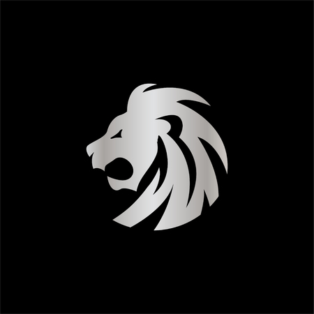 Lion head logo icon design