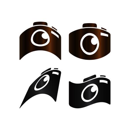 Camera photography icon template design vector illustration.