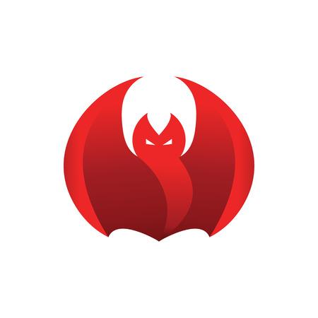 Abstract red flame fierce bat design template vector 일러스트