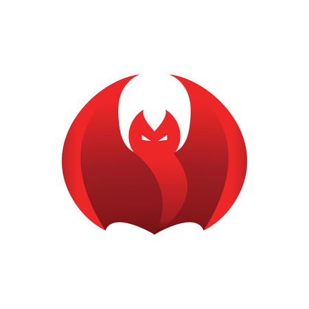 Abstract red flame fierce bat design template vector Ilustrace
