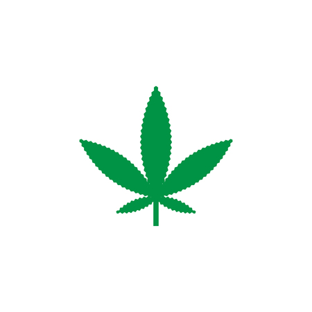 Green marijuana leaf logo icon template vector