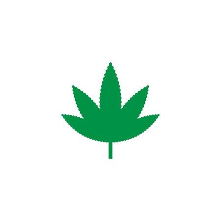 Green marijuana leaf logo icon template vector
