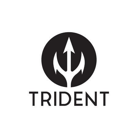 Set of trident logo inspiration template vector Illustration