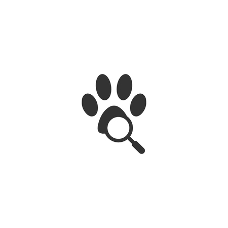 Illustration of pet locator logo template vector