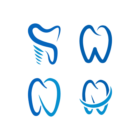 Collection of tooth logo icon template vector element Stock Illustratie