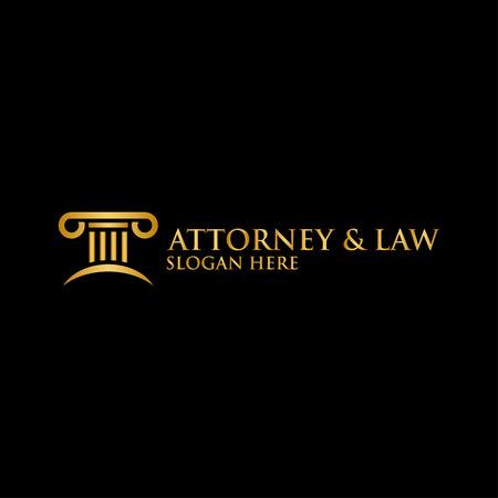 Abstract pillar attorney law logo template vector