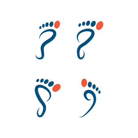 Illustration of foot palm icon template vector Vettoriali