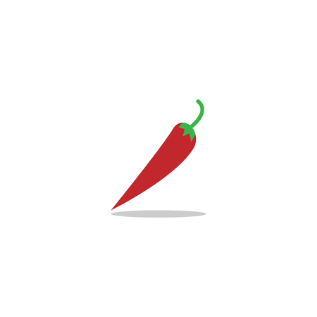 Illustration of red hot chilli pepper logo template 일러스트