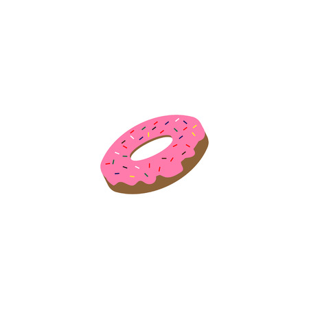Delicious doughnut design template vector design element
