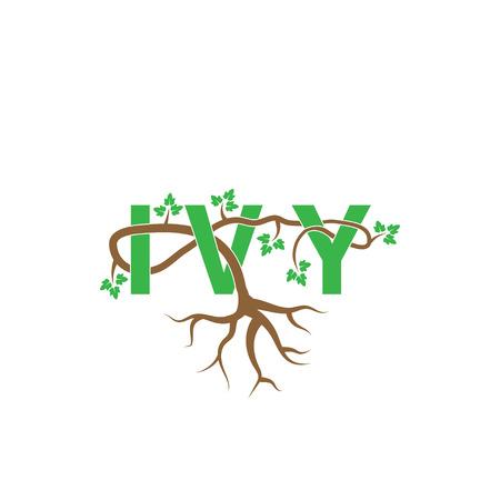 Ivy geweven door klimop vector briefsjabloon