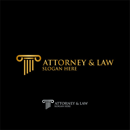 Abstract table attorney law logo template vector