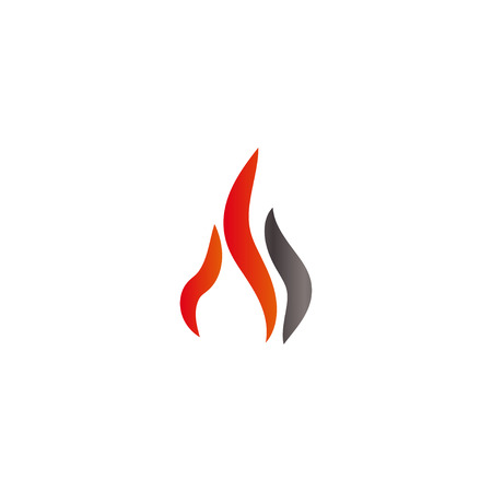 Fire and flames logo icon design template vector