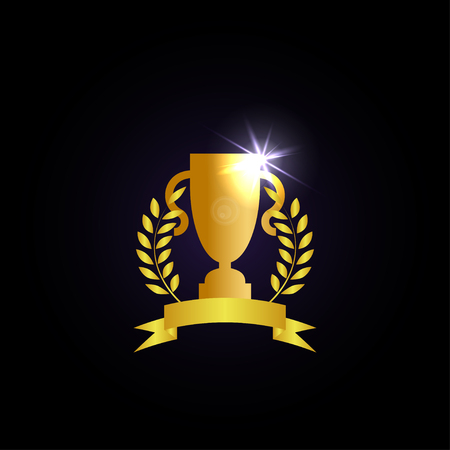 Illustration of trophy cup graphic template vector