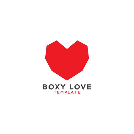 Illustration of boxy love graphic design template Ilustrace
