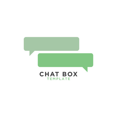 Chat box graphic template 일러스트