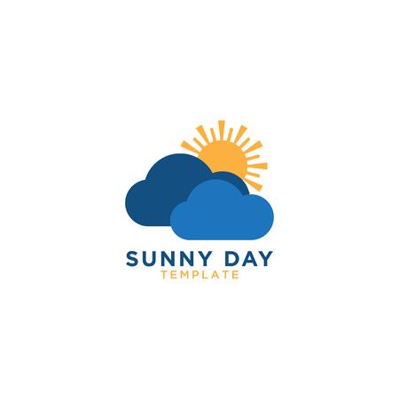 Ilustración de la plantilla de diseño gráfico del logotipo de día soleado