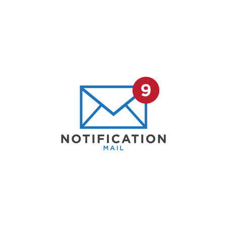 Illustration of notification mail graphic design template