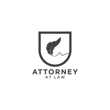 Attorney at law logo template Stock Illustratie