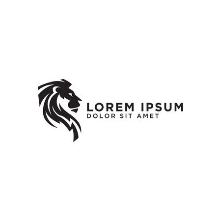 Ilustración de vector de plantilla de diseño de logotipo de león elegante