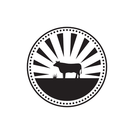 Illustration of cow logo design template vector
