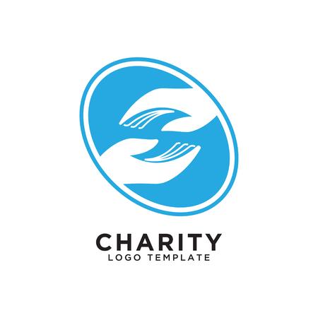 Illustration of charity logo design template vector