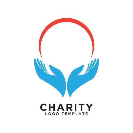Illustration of charity logo design template vector
