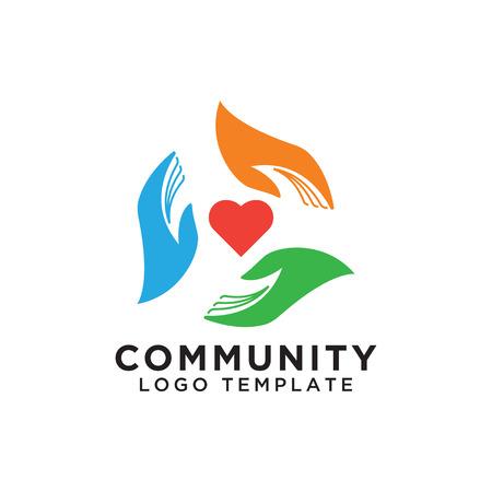 Community organization logo design template vector eps10 Logo