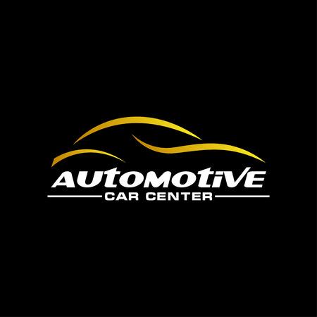 Automotive car gold on a dark background