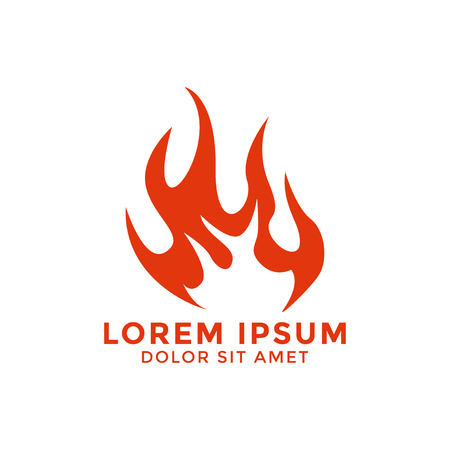 Fire flame logo icon design template vector graphic 向量圖像