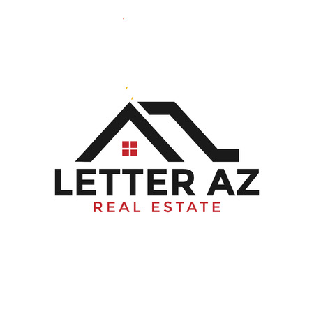 Initial letter a and z real estate logo design template graphic
