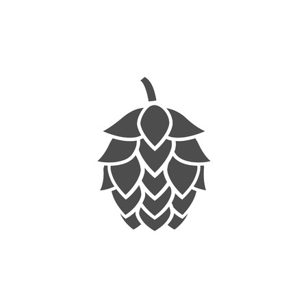 Illustration of hop silhouette vector template design