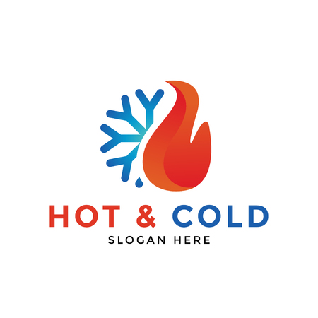Hot and cold logo icon design template vector Logó