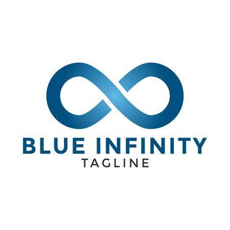 Blue infinity logo icon design template vector