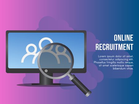 Online recruitment concept. Ready to use vector. Suitable for background, wallpaper, landing page, web, banner and other creative work.
