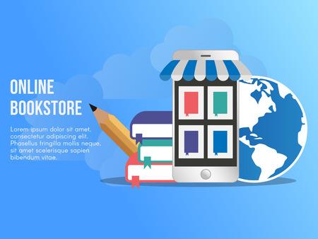 Online bookstore concept illustration Illustration