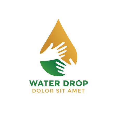 Water drop graphic design template