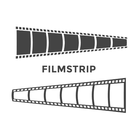 Filmstrip graphic design template Illustration