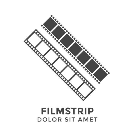 Filmstrip graphic design template Vektorgrafik