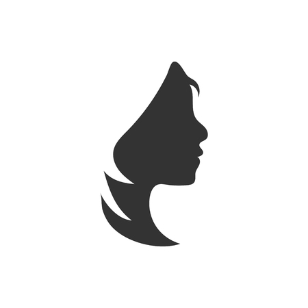 Woman silhouette graphic design template