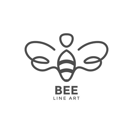 Bee graphic design template