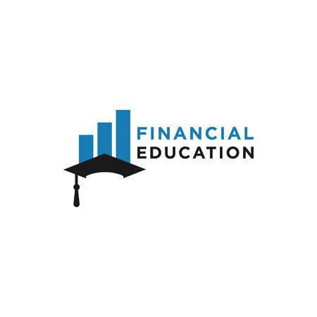 Financial education logo design template vector